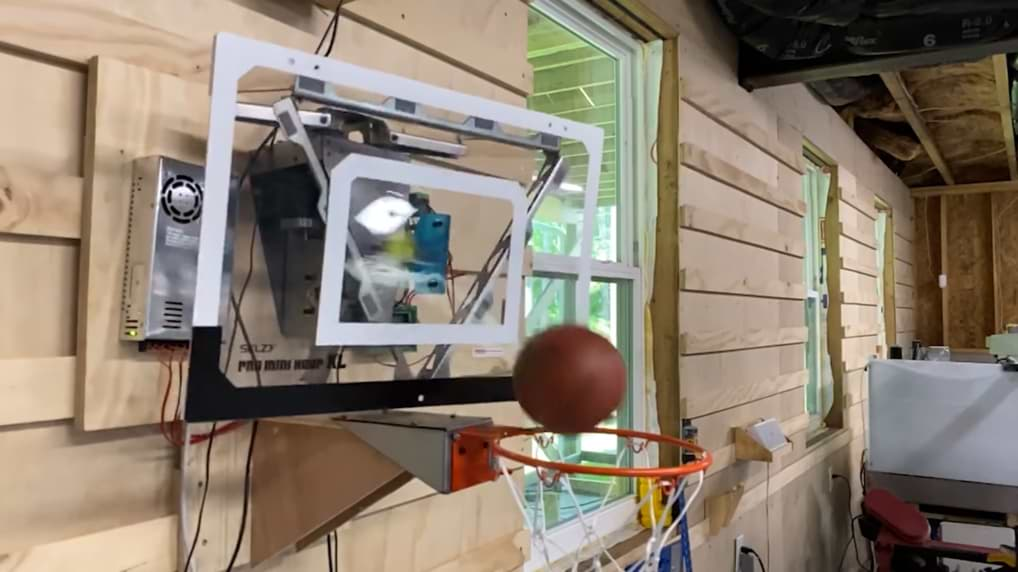 This Robotic Basketball Basket Makes All The Shots For You