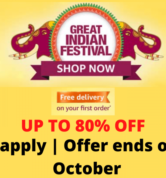 Amazon Great Indian Festival Sale Offers Live Now UP To 90% Off Festive Deals + Extra 10% HDFC Bank Discount