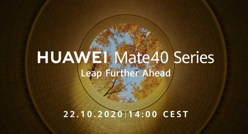 Huawei will announce the presence of the Mate 40 Series on October 22