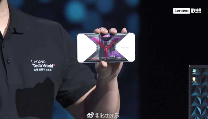 Lenovo Showcases a Legion Pro Smartphone with a Transparent Back View