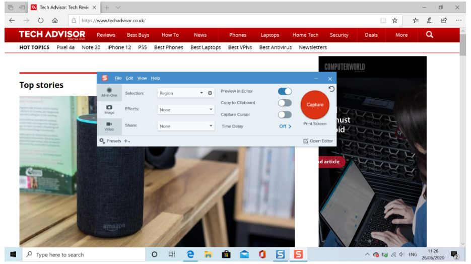 How to take screenshots with scroll in Windows 10