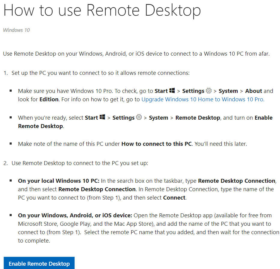 How to use Windows 10 remote access in simple steps