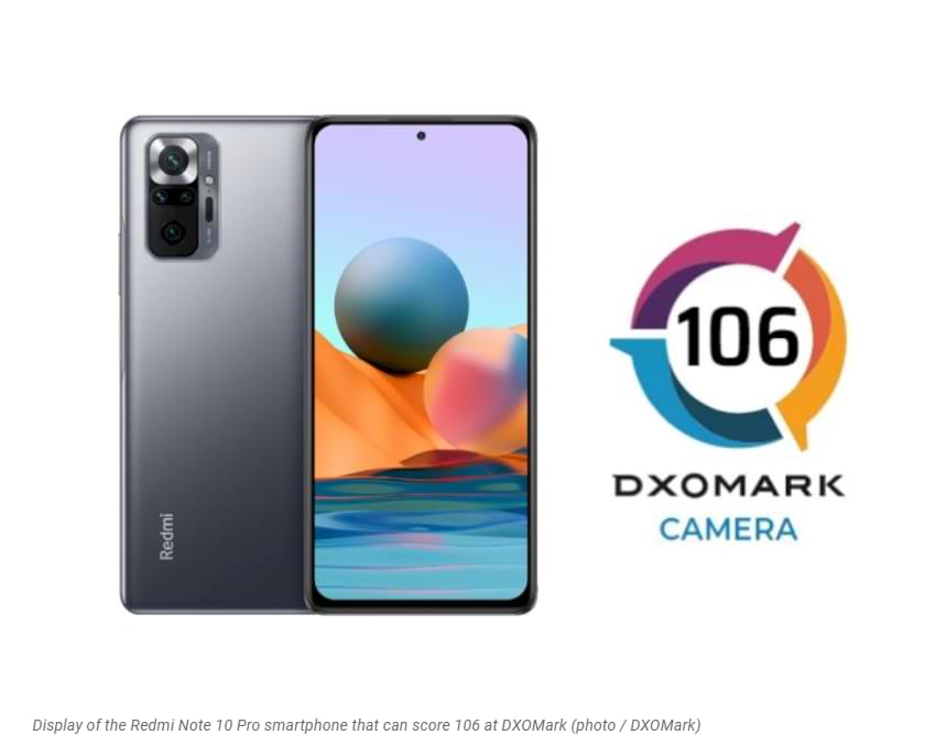 Redmi Note 10 Pro gets a back camera score of 106 from DXOMark