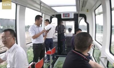 China Launches World's First Glass Cable Car, Gives Passengers Beautiful Views