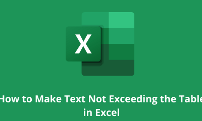 How to Make Text Not Exceeding the Table in Excel