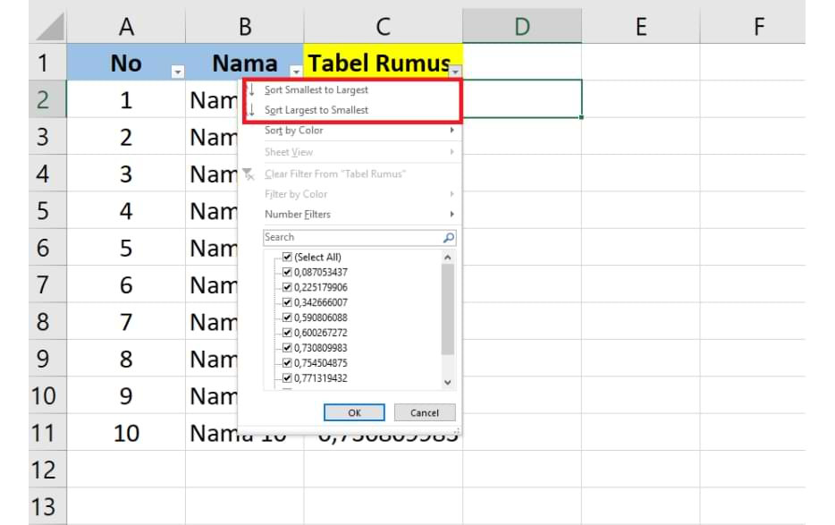 How to Randomize the Order of Numbers in Microsoft Excel