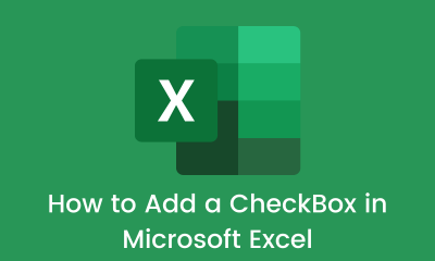 How to Add a CheckBox in Microsoft Excel