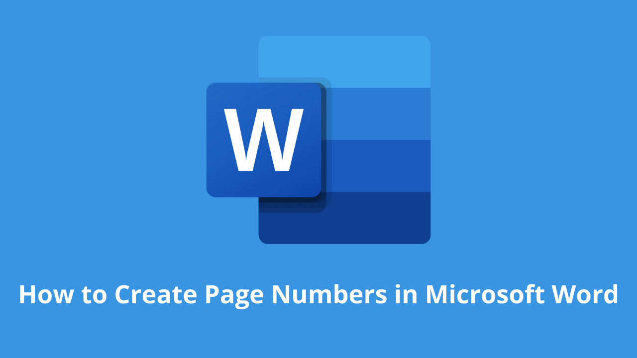 How to Create Page Numbers in Microsoft Word