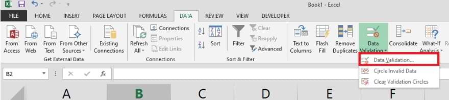 How to Create a Drop Down List in Microsoft Excel