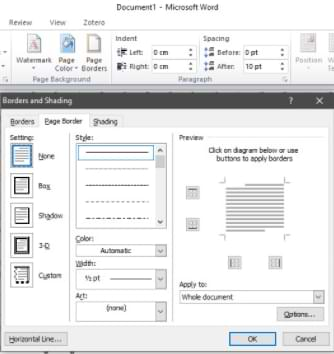 How to Create a Microsoft Word Border