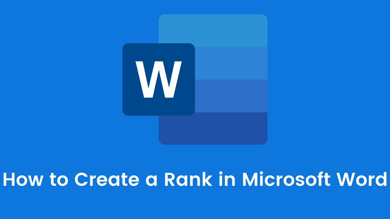 How to Create a Rank in Microsoft Word