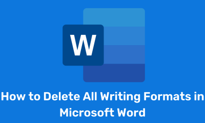 How to Delete All Writing Formats in Microsoft Word
