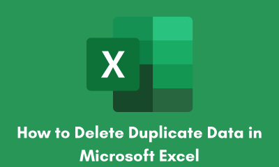 How to Delete Duplicate Data in Microsoft Excel