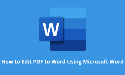 How to Edit PDF to Word Using Microsoft Word