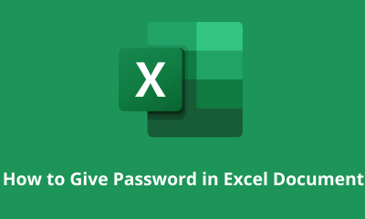 How to Give Password in Excel Document