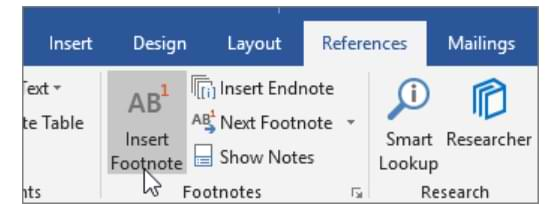 How to Make Footnotes in Microsoft Word