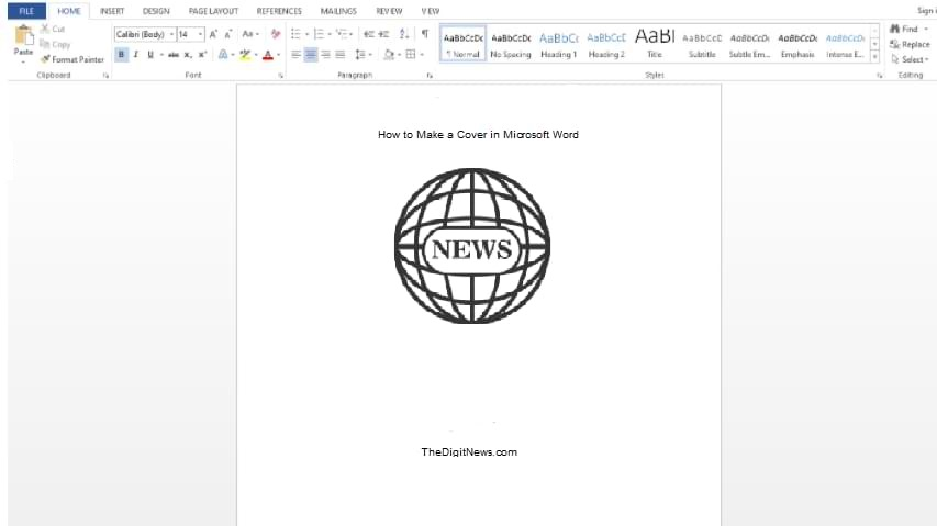 How to Make a Cover in Microsoft Word