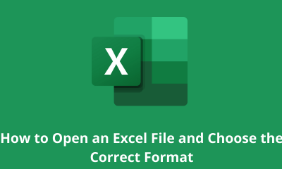 How-to Open an Excel File and Choose the Correct Format