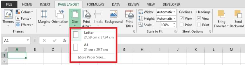 How to Print in Excel