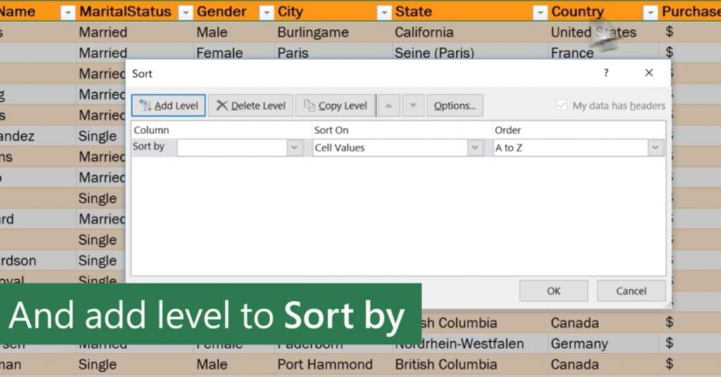 How to Quickly Sort Names Alphabetically in Excel