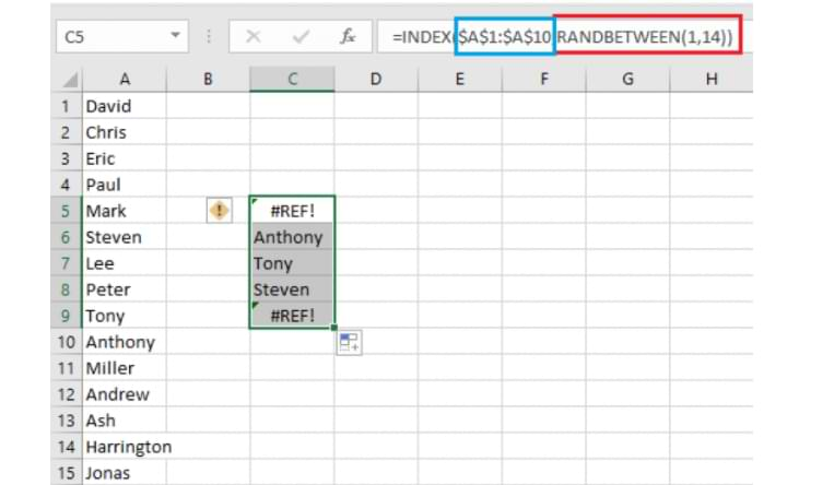 How to Randomize Names in Microsoft Excel
