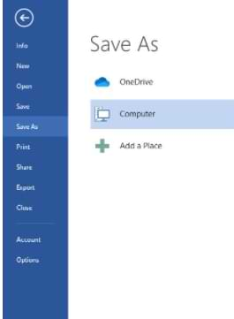 How to Save a Microsoft Word Document