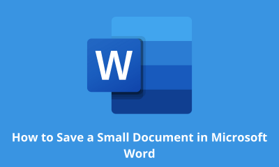 How to Save a Small Document in Microsoft Word