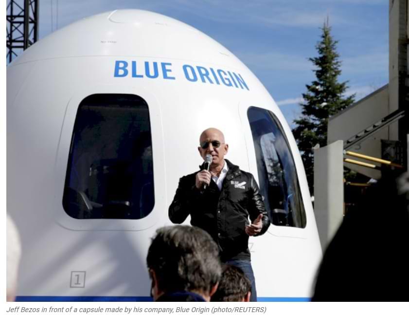 Jeff Bezos' Blue Origin Company Criticizes SpaceX's Going To The Moon