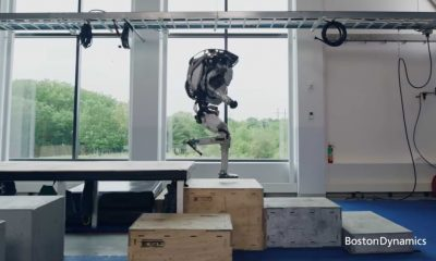 When Boston Dynamics' Atlas Robot Performs Parkour Actions Like a Human