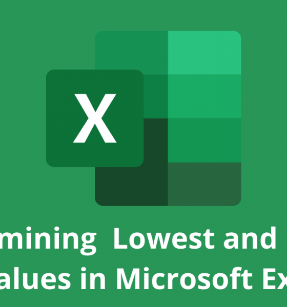 Determining Lowest and Highest Values in Microsoft Excel