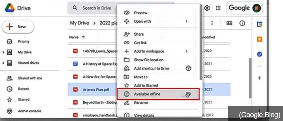 How to Access Documents on Google Drive Offline