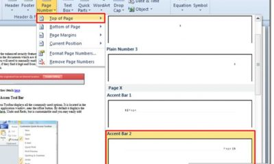 How to Automatically Create Page Numbers in Microsoft Word 2010