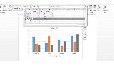 How to Create GraphsCharts Using Microsoft Word