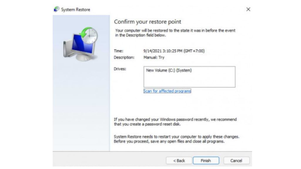 How to Perform System Restore in Windows 11