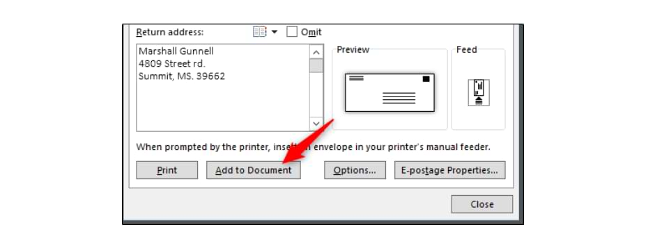 How to Print Text on Letter Envelopes Using Microsoft Word