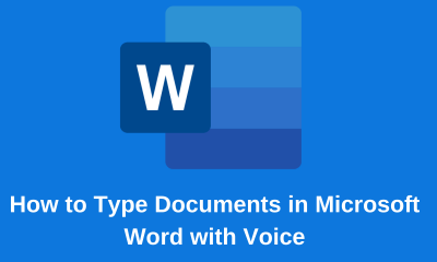 How to Type Documents in Microsoft Word with Voice