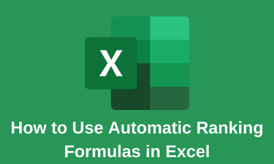 How to Use Automatic Ranking Formulas in Excel