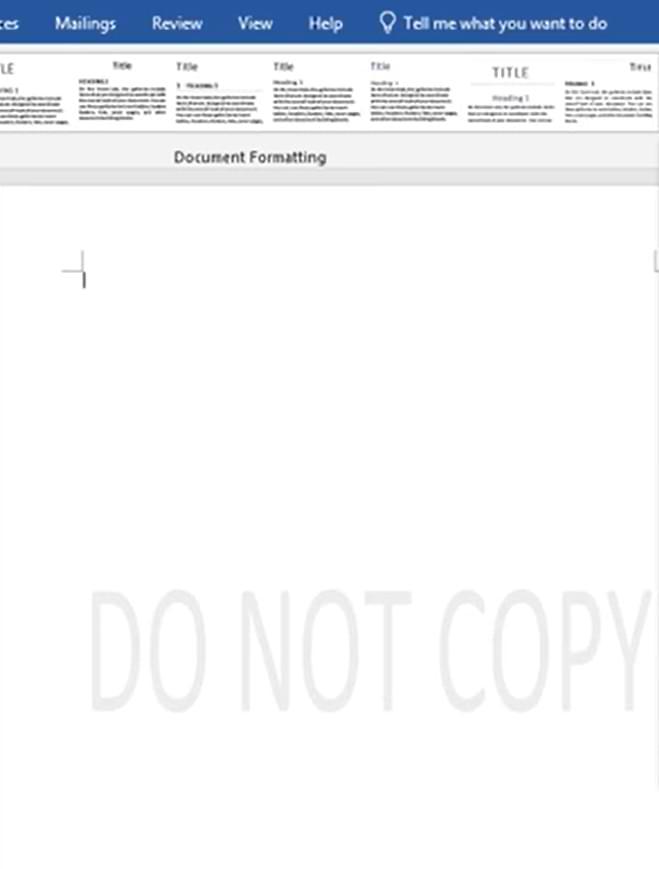 Make Watermark in Microsoft Word