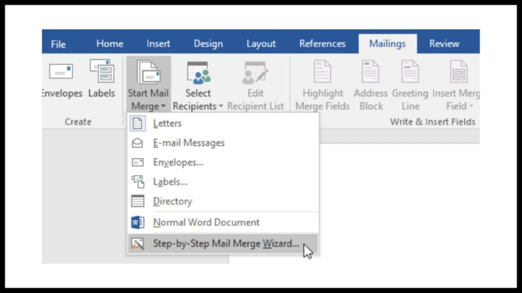 HOW TO CREATE A MAIL MERGE DATA FORMAT IN WORD