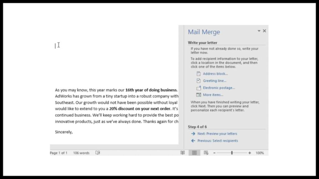 How to Make a Mail Merge