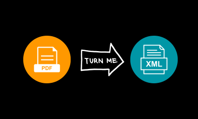 How to convert PDF files to XML