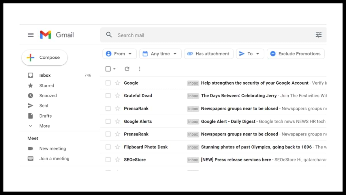 How to quickly delete thousands of emails at once in Gmail