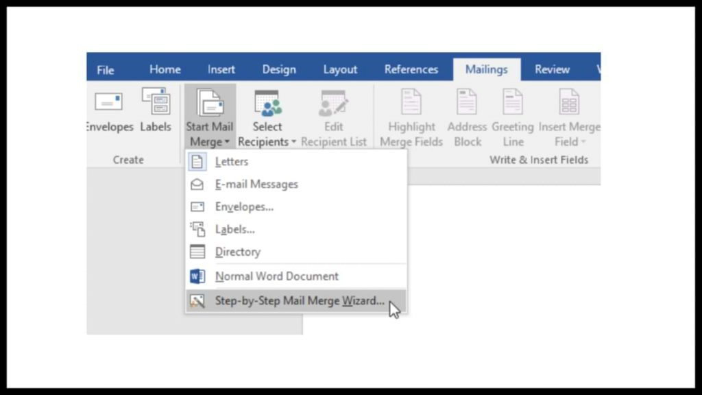 Make a Mail Merge in Microsoft Word 2016