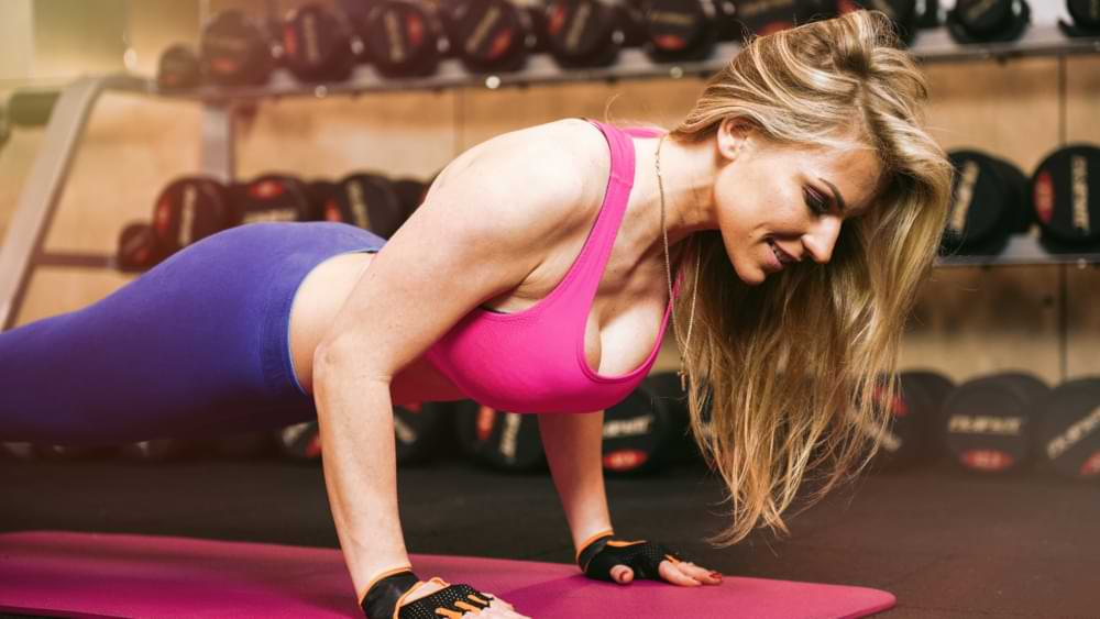 Push-ups to tighten the breasts